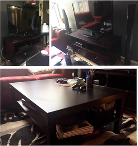TV,TV Stand & a coffee table For Sale