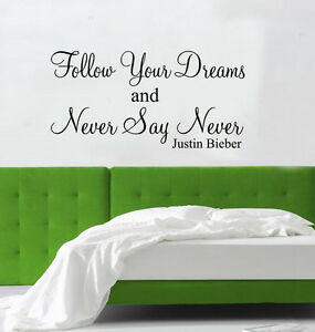 NEVER-SAY-NEVER-Justin-Bieber-wall-art-Sticker-quote
