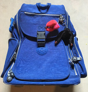 Backpack Kipling w/ handle & wheels - blue