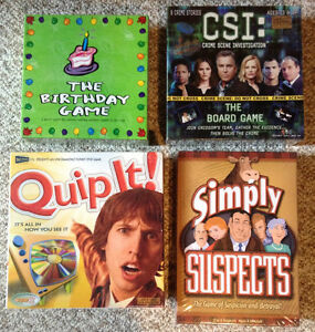 Lot of 4 Brand New Sealed Kids Board Games