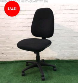 BLACK OPERATOR CHAIR CHEAP USED OFFICE FURNITURE CLEARANCE SALE