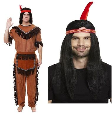 Fancy Dress Indian Brave Red Indianl Fits 44