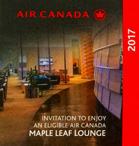 Air Canada Maple Leaf Lounge Pass 4 for 100