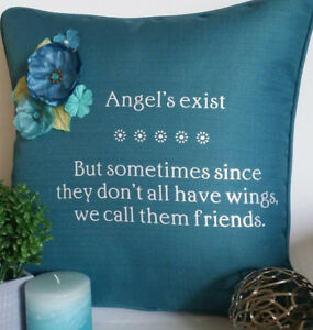 Custom message decorative pillow