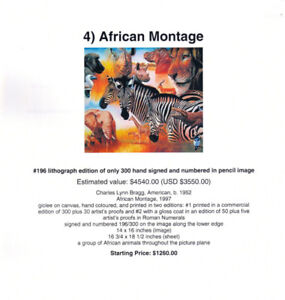 "Unique Art ""African Montage"" by Charles Lynn Bragg"