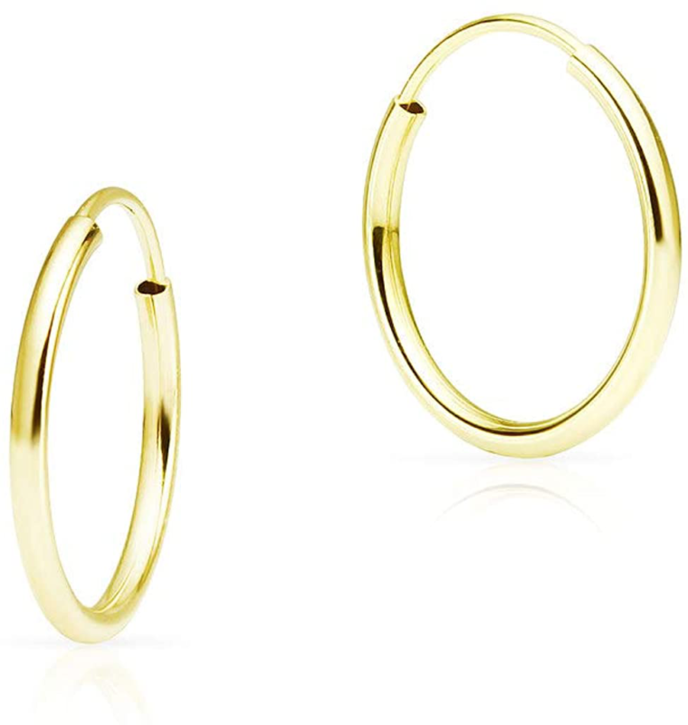 solidgold 14k endless gold 10 20mm infinity