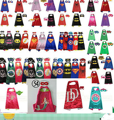 Boys/Girls Superhero Cape/Mask for kids birthday party favors and ideas Costume