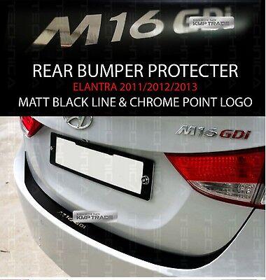 Rear Bumper Protecter Decal Stickers Black Chrome Fit Hyundai 2011-2016 Elantra