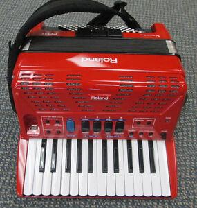 Roland FR-1X Red V-Accordion Open Box