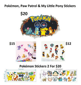 Kids Big Wall Stickers (4 Different Stickers To Choose) Cornwall Ontario image 1