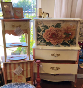 SALE Hand Painted Dressers and Night Stands