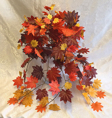 Fall Maple Leaves ~ Bush Greenery Silk Wedding Flowers Bouquets Centerpieces -