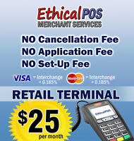MERCHANT SERVICES with NO CANCELLATION or SETUP FEES
