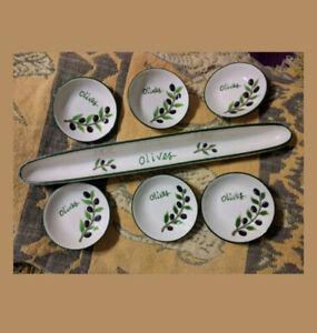 Plat de service pour olives, cornichons ou petits oignons