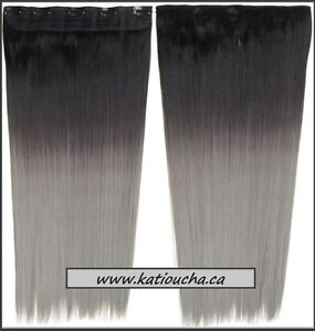 """GRAY OMBRE Clip in hair extension,Straight hair,60 cm, 24"""" St. John's Newfoundland image 2"""