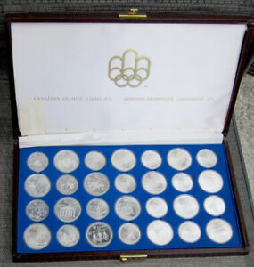 1976 Olympic Sterling Silver Coin Set with Box and Key