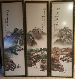 Korean paintings - triptych