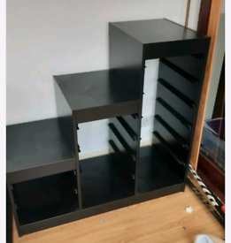 IKEA Trofast black storage unit with boxes