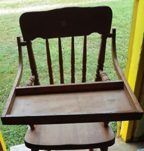 Vintage - Wooden High Chair -Estate Sale- 70 plus years old