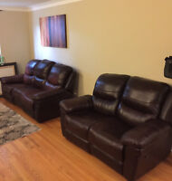 3 PIECE Brown Italian Leather Couch Set Huge Savings|Moving Sale
