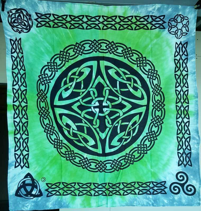 """36"""" Large Celtic Shield Knot Tie Dye Altar Cloth Wiccan Pagan Altar RAC010"""