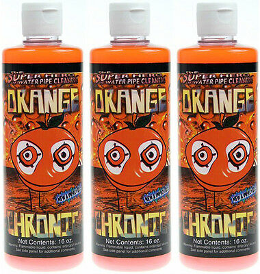 Best cleaner 3 Bottles 16 OZ Orange Chronic Cleaner Cleans Metal and Glass Pipe