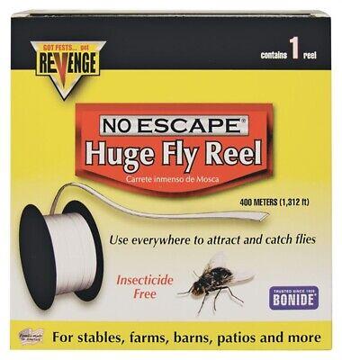 NEW Bonide 46140 Revenge Huge Fly Reel, 1300 FOOT STICKY FLY TAPE
