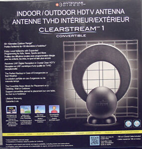 ANTENNAS DIRECT CLEARSTREAM 1 CONVERTIBLE INDOOR/OUTDOOR HDTV