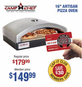 """Camp Chef Pizza Oven 16"""" Systems - NOW $149.99"""