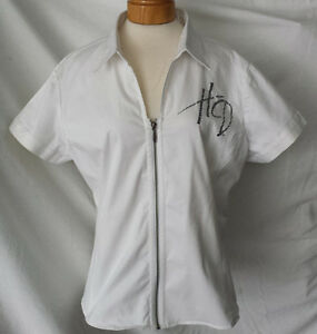 Harley Blouse blanche dame, 2XL, impeccable 35$