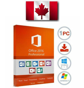 Microsoft Office 2016 Professional Plus - Full Version - 1 User