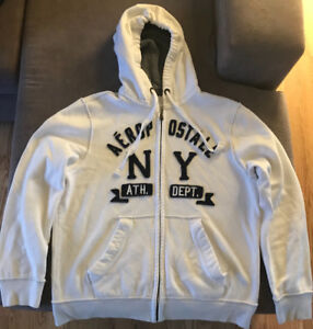**MEN'S WHITE AÉROPOSTALE HOODIE FOR SALE-SIZE LARGE**
