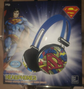 NEW in Box SUPERMAN headphones with in-line mic