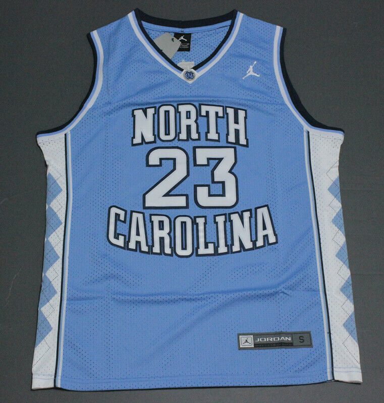 Michael Jordan #23 The University of North Carolina Basketball Trikot Blau