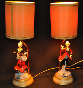 Vintage porcelaine man and lady lamps Kitchener / Waterloo Kitchener Area image 1