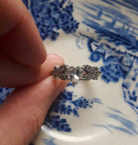 Sterling Silver Heart and Butterfly Ring!