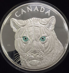 2015 $250 FINE SILVER COIN IN THE EYES OF THE COUGAR