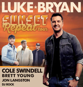 Luke Bryan - Budweiser Stage- Sept 5th - Section 401  row D