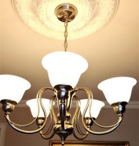 """Elegant 5 light Chandeliers 30"""" diameter"""