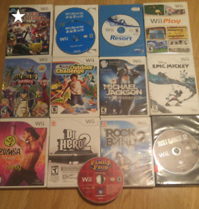 Wii games for sale - $10 each or 2 for $15