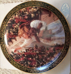 """Night Before Christmas"" by Sandra Kuck decorative plate"