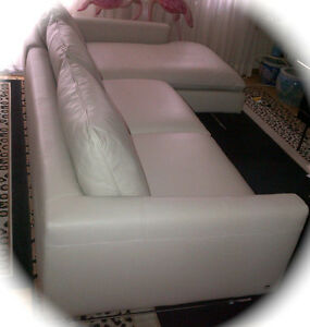 Italsofa MONOPOLI Leather Sofa Chais and Chair NEW