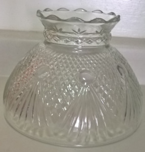 Vintage Glass Replacement Hurricane Lamp Shade