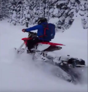 Snowbike 2016 Timbersled ST and CRF 450x 2008