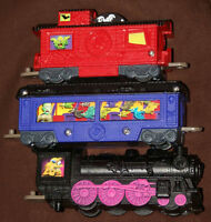 Lionel Eerie Express 3 pc lot of toy trains (Wendy's premium)