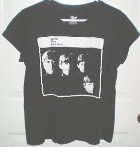 Beatles Large Ladies Black T Shirt
