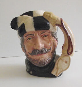 ROYAL DOULTON CHARACTER TOBY JUG ''THE TRAPPER'' D6609 1966