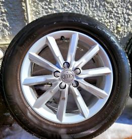 17'' GENUINE AUDI Q3 ALLOY WHEELS TYRES 5x112 Volkswagen seat tiquan