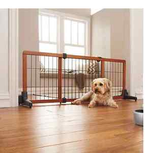Freestanding Extra Wide Gate with premium hardwood and metal