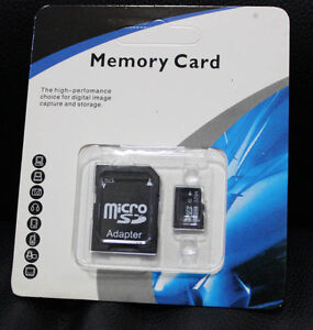 32GB MicroSD Card Flash Memory + Adapter